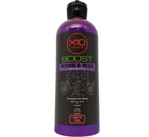 X10 Products Car Wash and Wax Shampoo With Carnauba For Shine - Protection Detailer Kit (3pc)