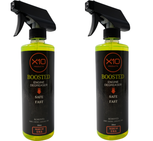 X10 Boosted Engine Degreaser / Cleaner Oil Spray | Car Care Products